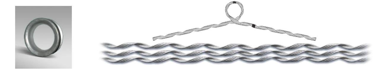 Зажим поддерживающий спиральный (ЗПС-М) Сармат